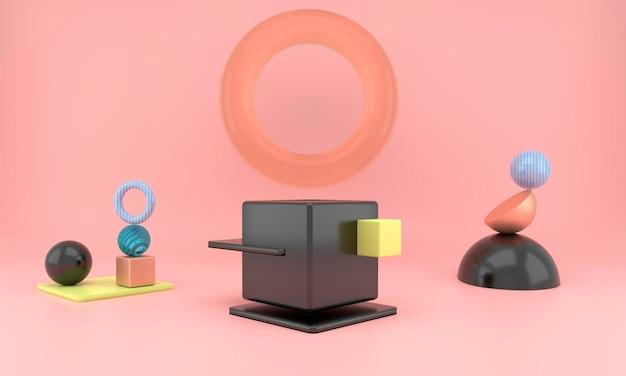 Abstracte geometrische vormen van productvertoning met minimale en moderne concepten