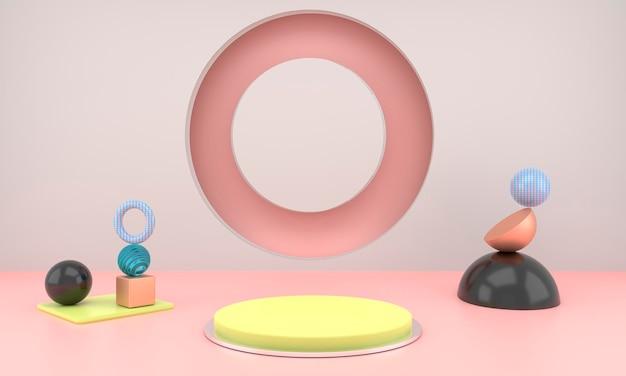 Abstracte geometrische vormen van productvertoning met minimale en moderne conceptenweergave