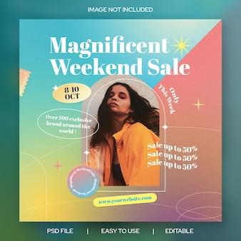 Abstracte kleurrijke gradiënt banner social media evenement promotie sjabloon