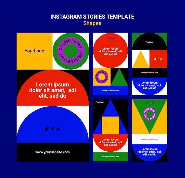 Abstracte kleurrijke vormen instagram-verhalen
