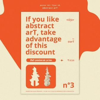 Abstracte kunst advertentie poster sjabloon