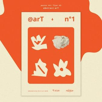 Abstracte kunst advertentie sjabloon poster