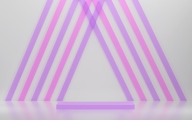 Abstracte scène en podium voor productvertoning met geometrische vormen