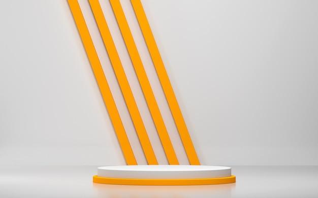 Abstracte scène en podiummodel voor productvertoning met geometrische vormen
