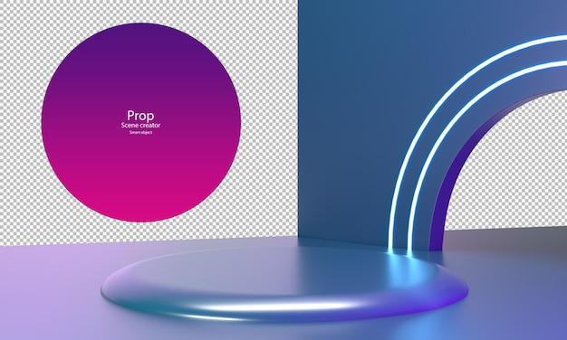 Abstracte schemering kleur voor product mockup product podium sjabloon cirkel podium voor showcase