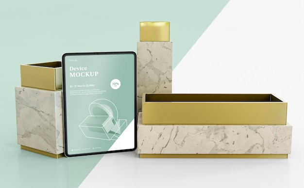 Abstracte steen en tablet