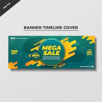 Abstracte verkoop banner tijdlijn voorbladsjabloon