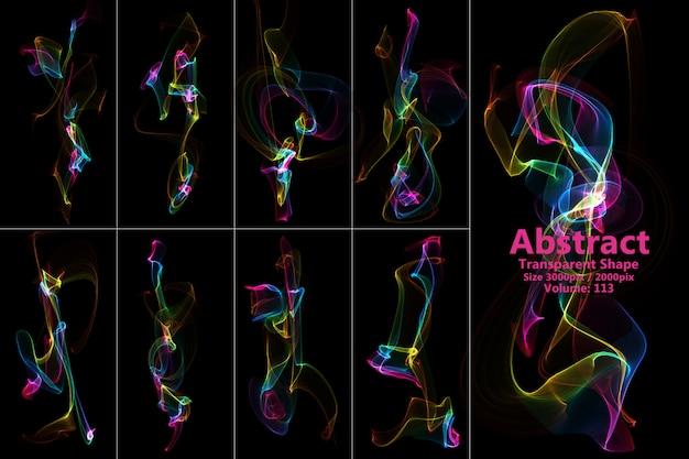Abstracte vlammen geïsoleerde vorm