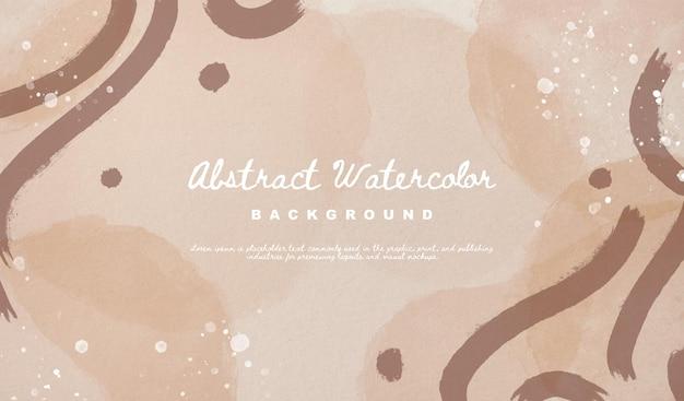 Abstracte vorm aquarel achtergrond. handgeschilderd patroonconcept