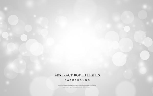 Abstracte witte bokeh lichten effect achtergrond