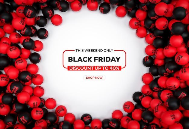 Abstracte zwarte vrijdag Premium Psd