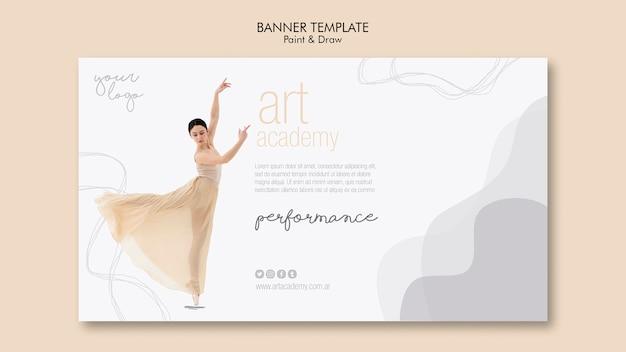 Accademia d'arte stile modello di banner