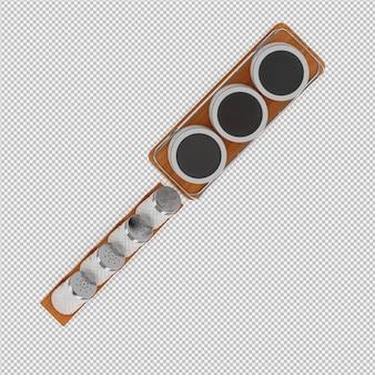 Accesorios de cocina isométricos render 3d