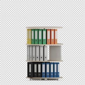 Accesorios de oficina isométricos
