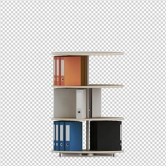 Accessori da ufficio isometrici