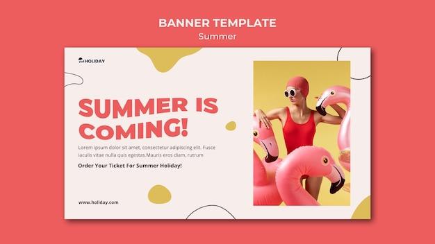 Se acerca el verano plantilla de banner