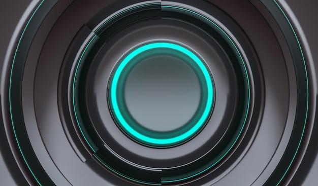 Achtergrond futuristische cirkels neonblauw
