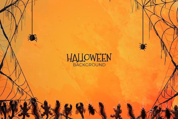 Achtergrond met halloween-concept