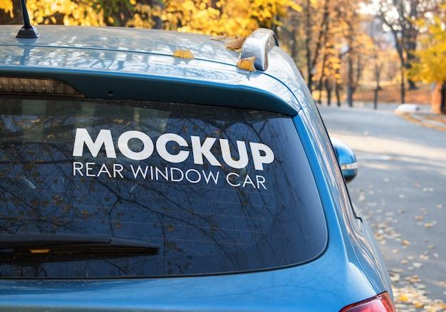 Achterruit auto mockup