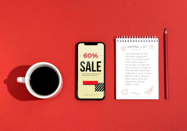 Acquisti online nell'elenco mobile