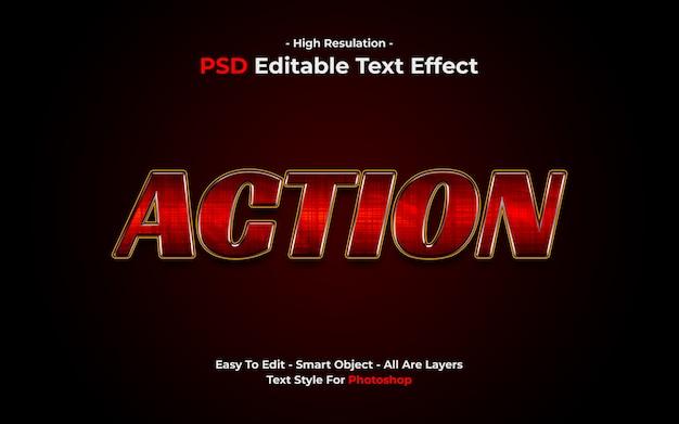 Actie teksteffect