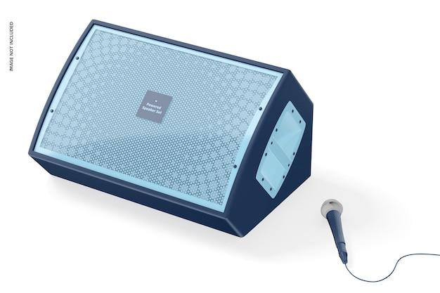 Actieve luidsprekermodel, rechteraanzicht