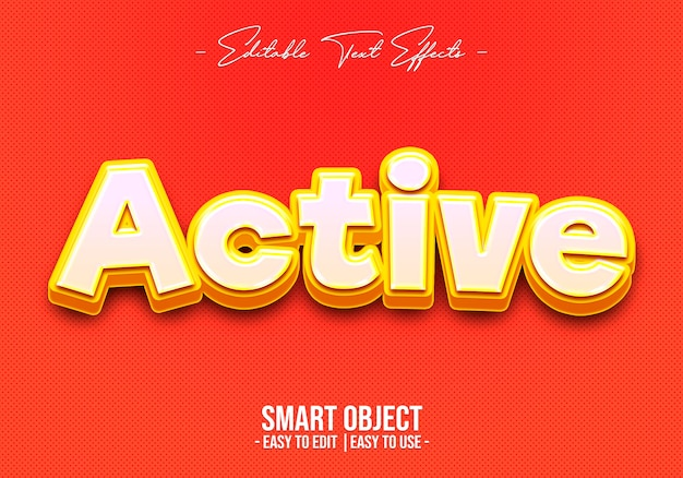 Active-text-style-effect