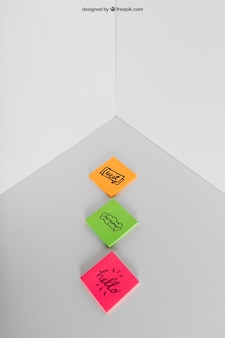 Adhesive notes mockup