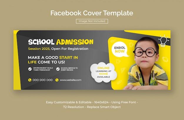 Admisión a la escuela infantil portada de facebook