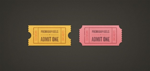 Admit one ticket stubs (psd)