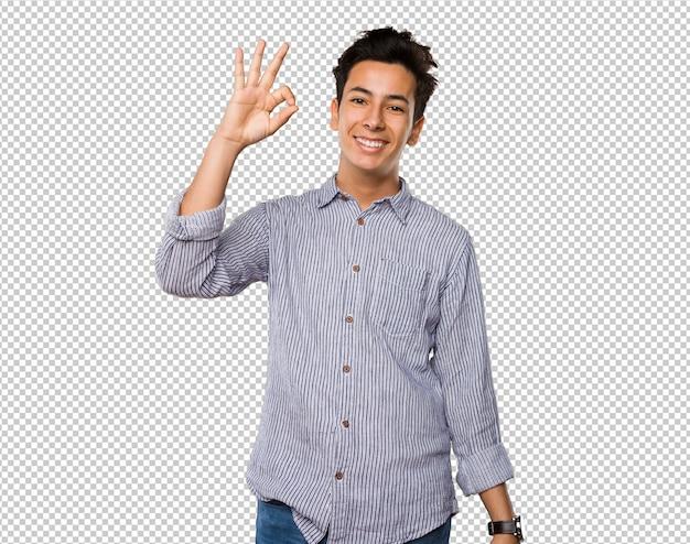Adolescente haciendo gesto bien