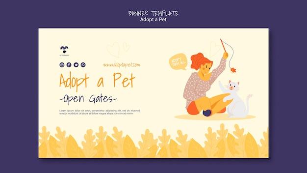 Adopta un diseño de plantilla de banner para mascotas