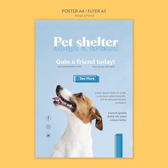 Adopta un diseño de póster de amigo