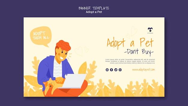 Adopta un estilo de plantilla de banner para mascotas