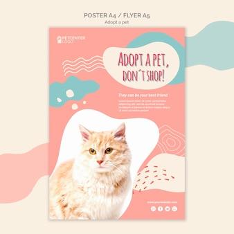 Adopta un estilo de plantilla de póster para mascotas