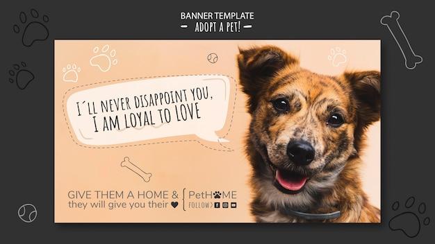 Adopta una plantilla de banner de amigo con foto