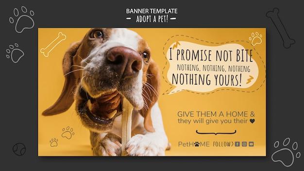 Adopta una plantilla de banner de amigo