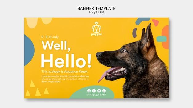 Adopta una plantilla de banner horizontal para mascotas