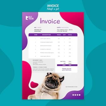 Adopta una plantilla de factura para mascotas