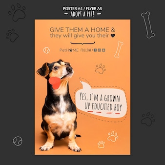 Adopta una plantilla de póster de amigo con foto