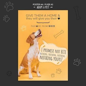Adopta una plantilla de póster de amigo