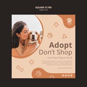 Adoptar plantilla de volante para mascotas