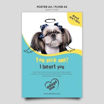 Adoptar una plantilla de volante de perro