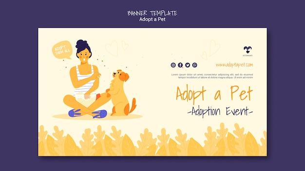 Adopteer een huisdier horizontale bannermalplaatje