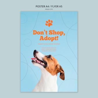 Adopteer een poster sjabloon voor huisdieren
