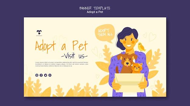 Adopteer een sjabloon voor huisdierenbanners