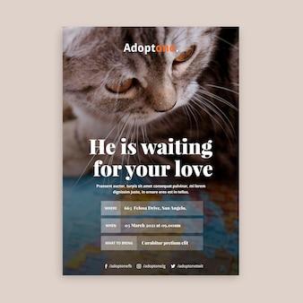 Adoptie folder sjabloon met foto