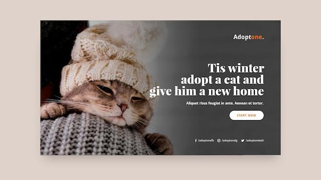 Adoptie horizontale banner sjabloon