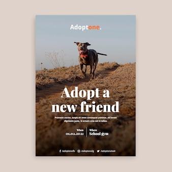 Adoptie poster sjabloon met foto