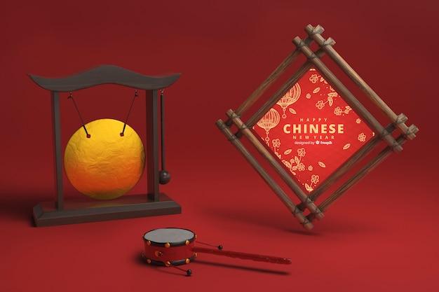Adornos decorativos del año nuevo chino